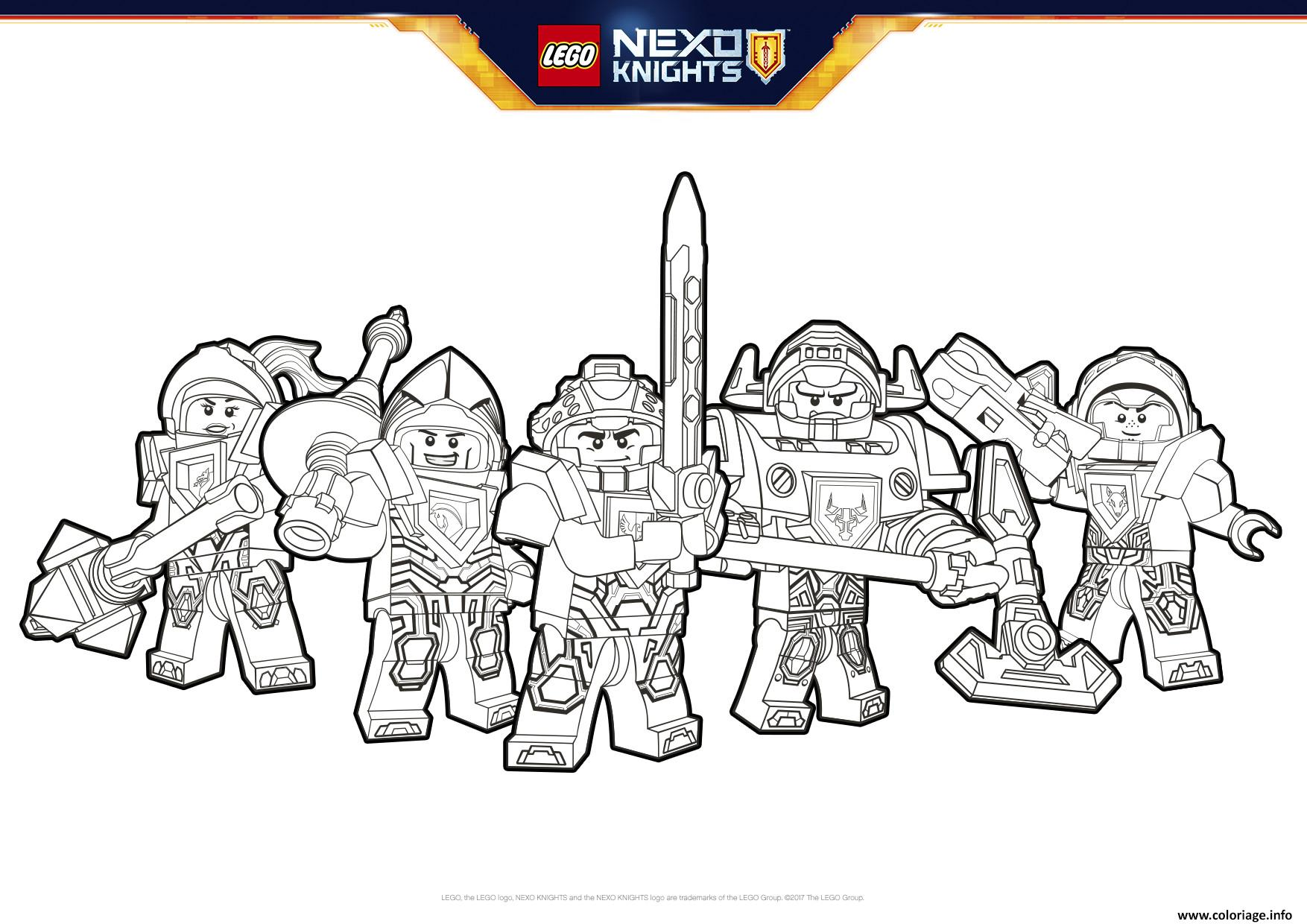 nexo knights coloring pages - coloriage lego nexo knights formation