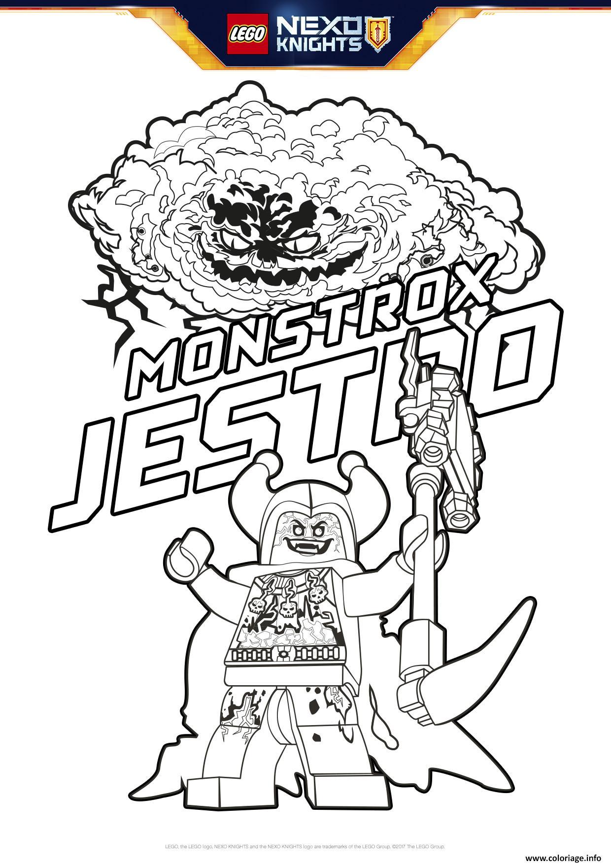 Coloriage Lego Nexo Knights MonstroxJestro Dessin  Imprimer