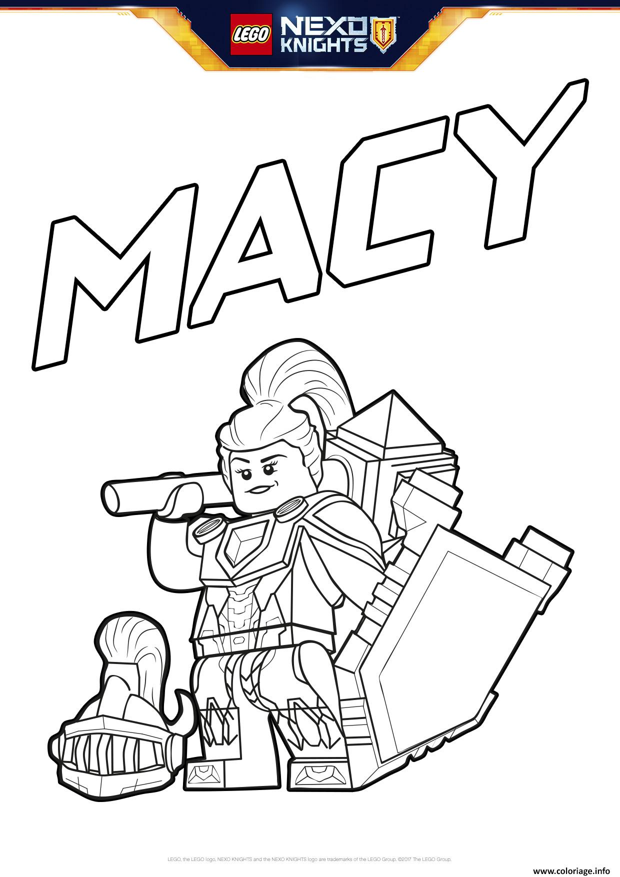 coloriage lego nexo knights bouclier macy - jecolorie