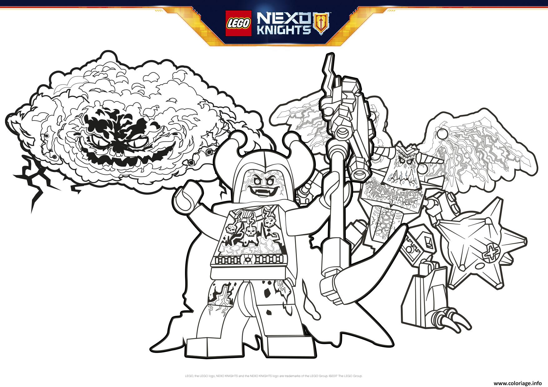 Coloriage lego nexo knights BadGuys Formation