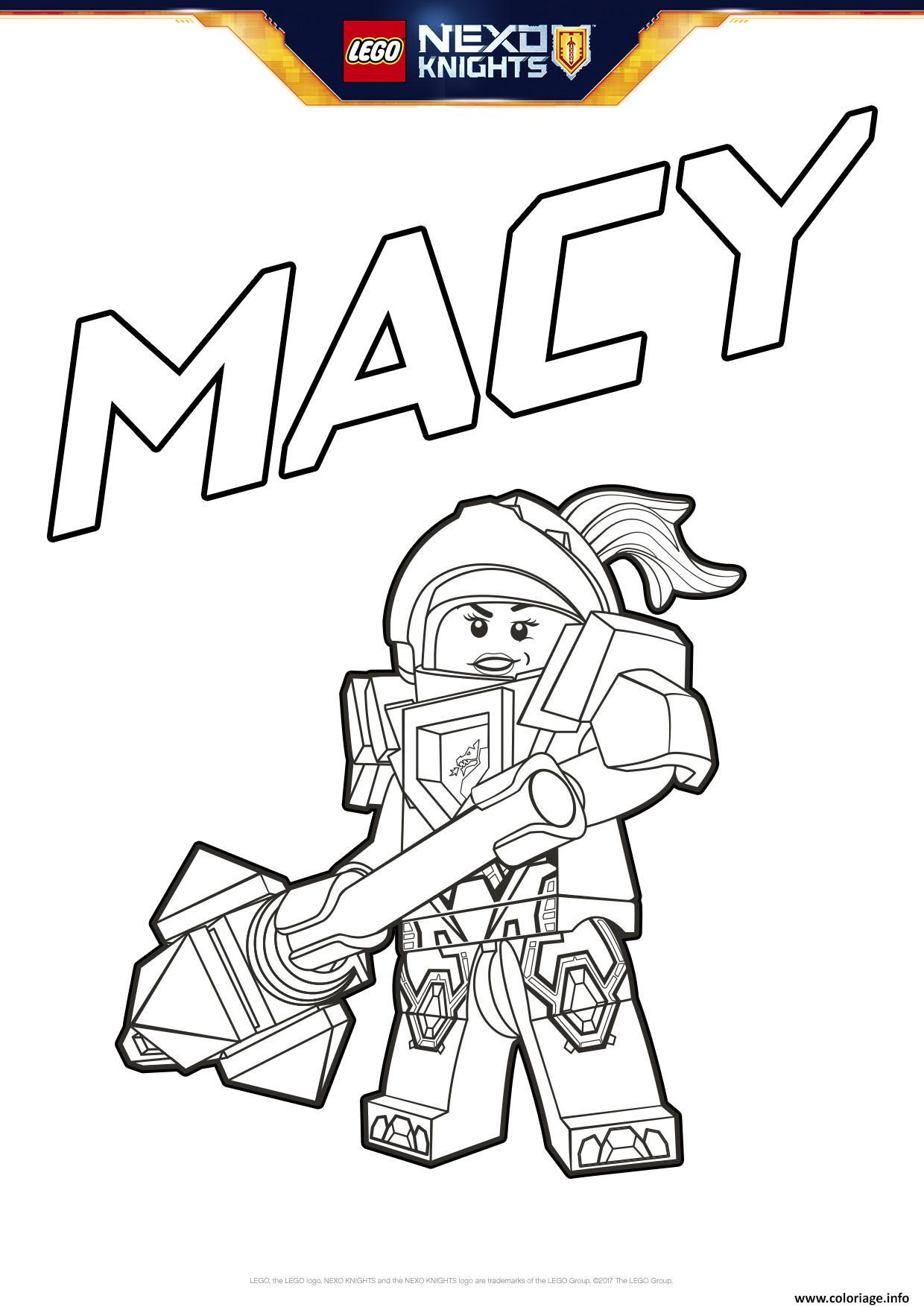 Coloriage Lego Nexo Knights Macy Dessin