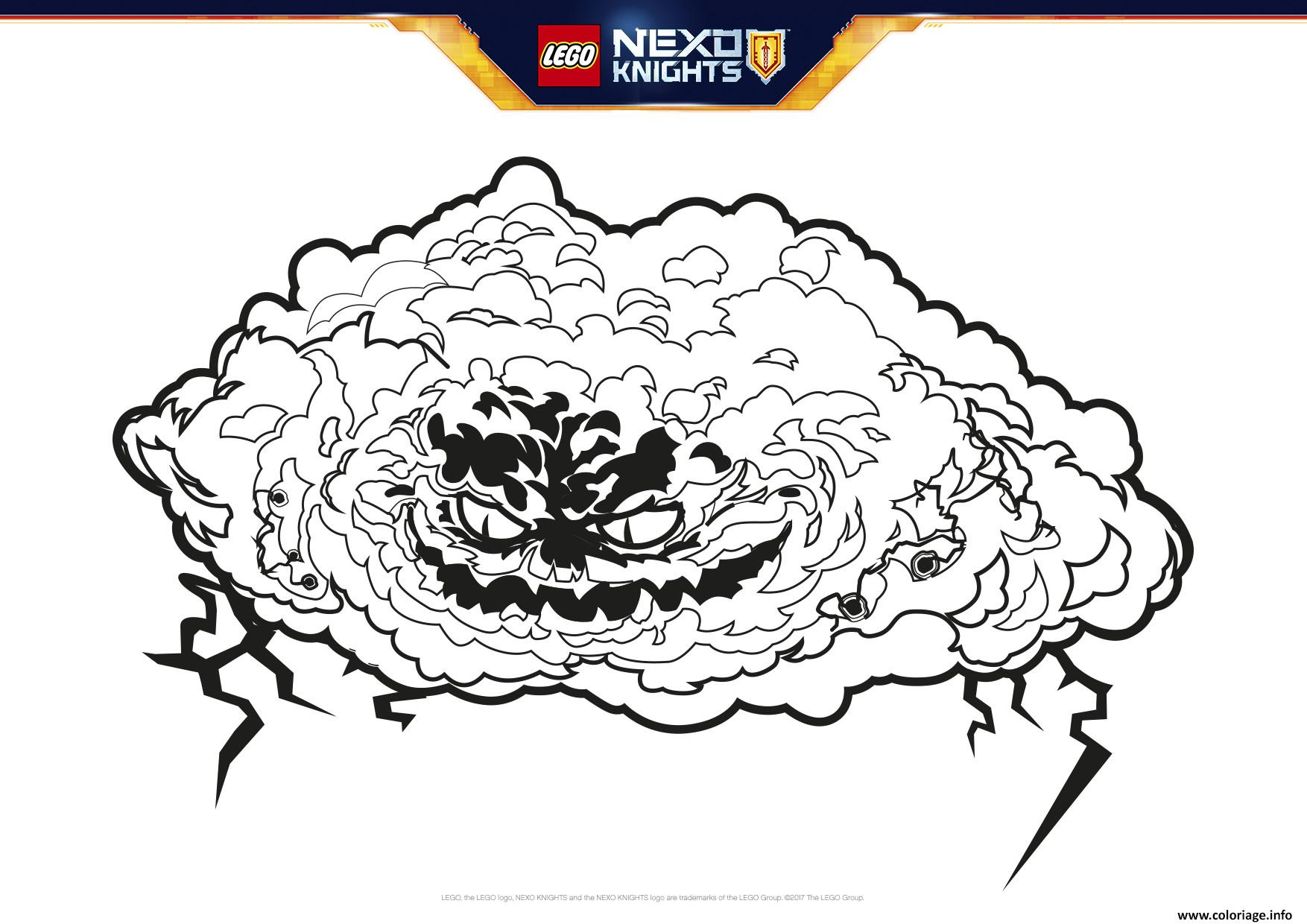 coloriage lego nexo knights monstrox  jecolorie