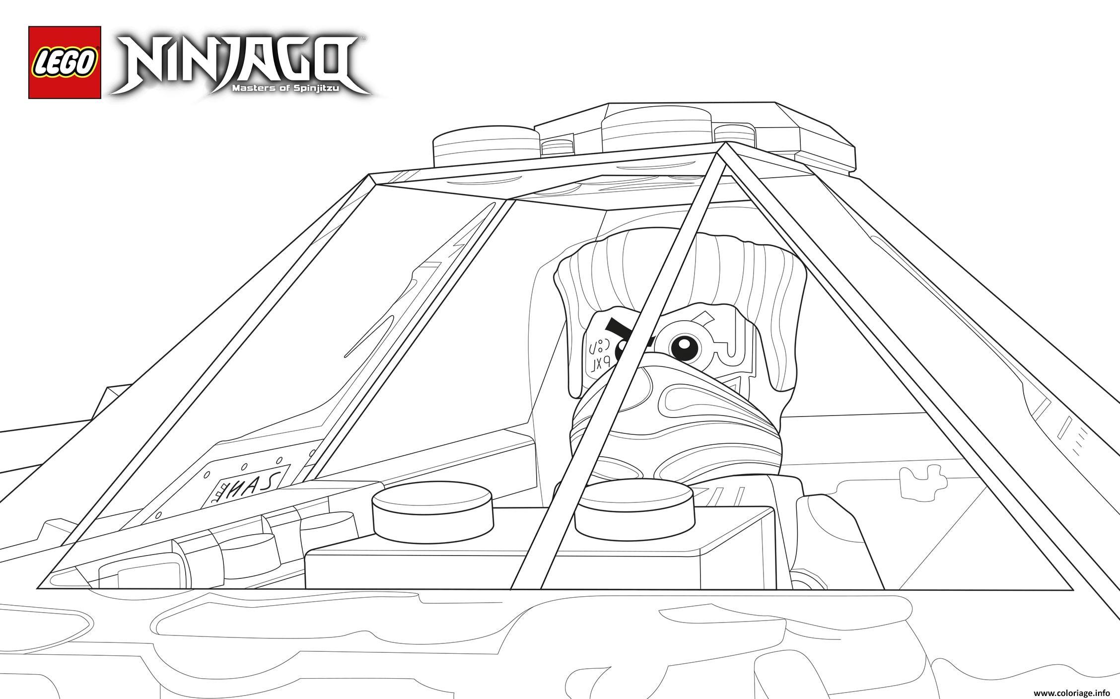 Dessin lego ninjago mechant vehicule Coloriage Gratuit à Imprimer
