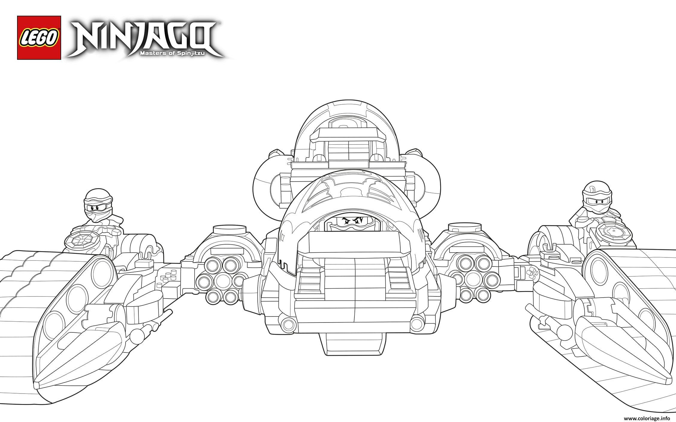 Dessin lego ninjago ninjaja nouvelle saison Coloriage Gratuit à Imprimer