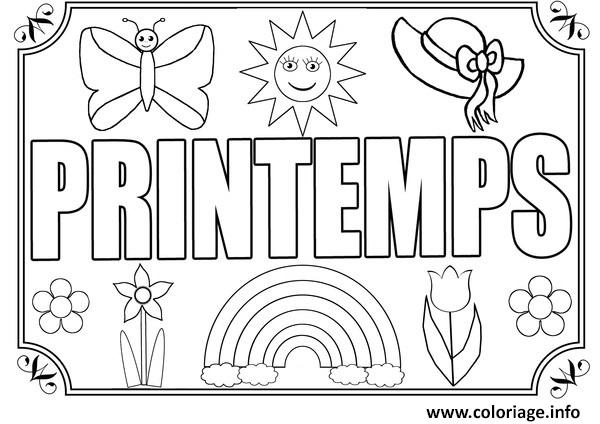 Coloriage on aime le printemps dessin - Coloriage printemps a imprimer gratuit ...