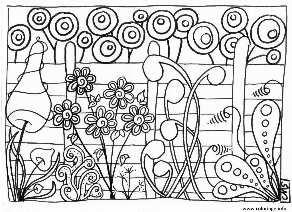 Coloriage De Printemps.Coloriage Printemps Adulte Fleurs Roses Dessin