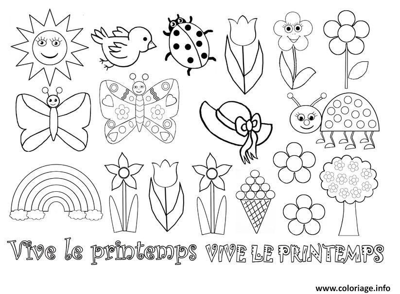 Coloriage De Printemps.Coloriage Printemps Maternelle Dessin