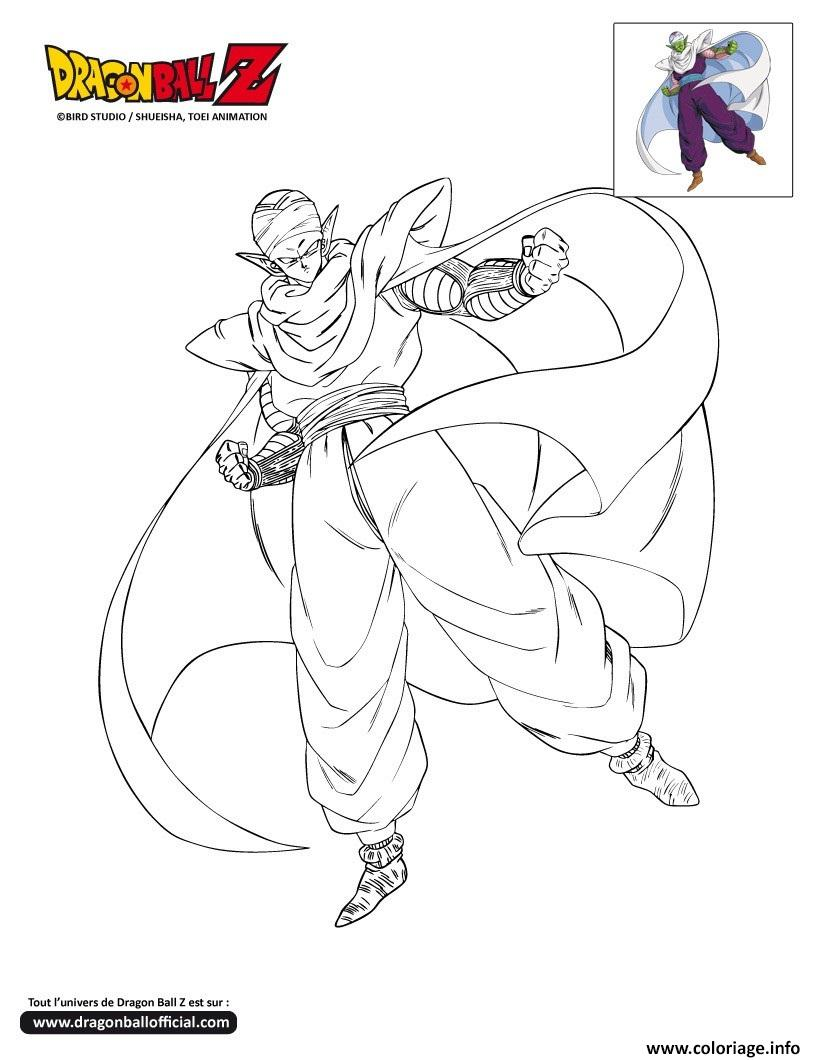 Coloriage Dbz Piccolo En Plein Vol Dragon Ball Z Officiel Dessin