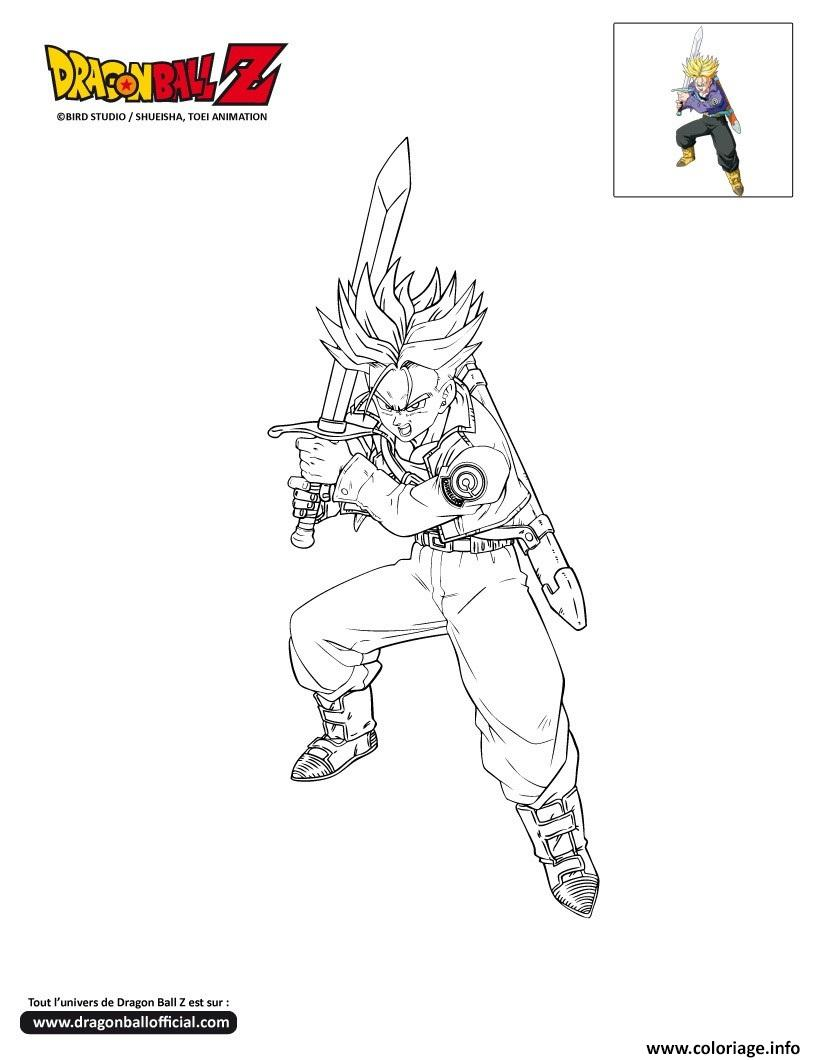 Coloriage dbz 7 trunks dragon ball z officiel dessin - Dessin de dragon ball za imprimer ...