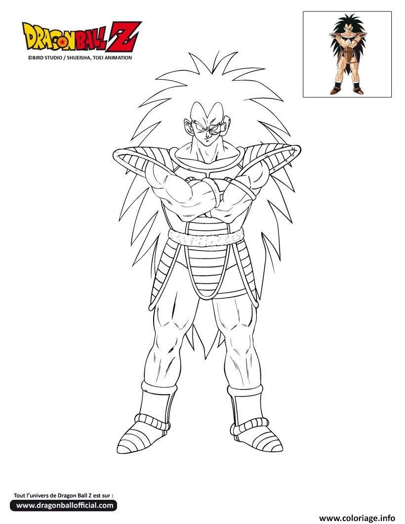 Coloriage Dbz Raditz Dragon Ball Z Officiel Jecolorie Com