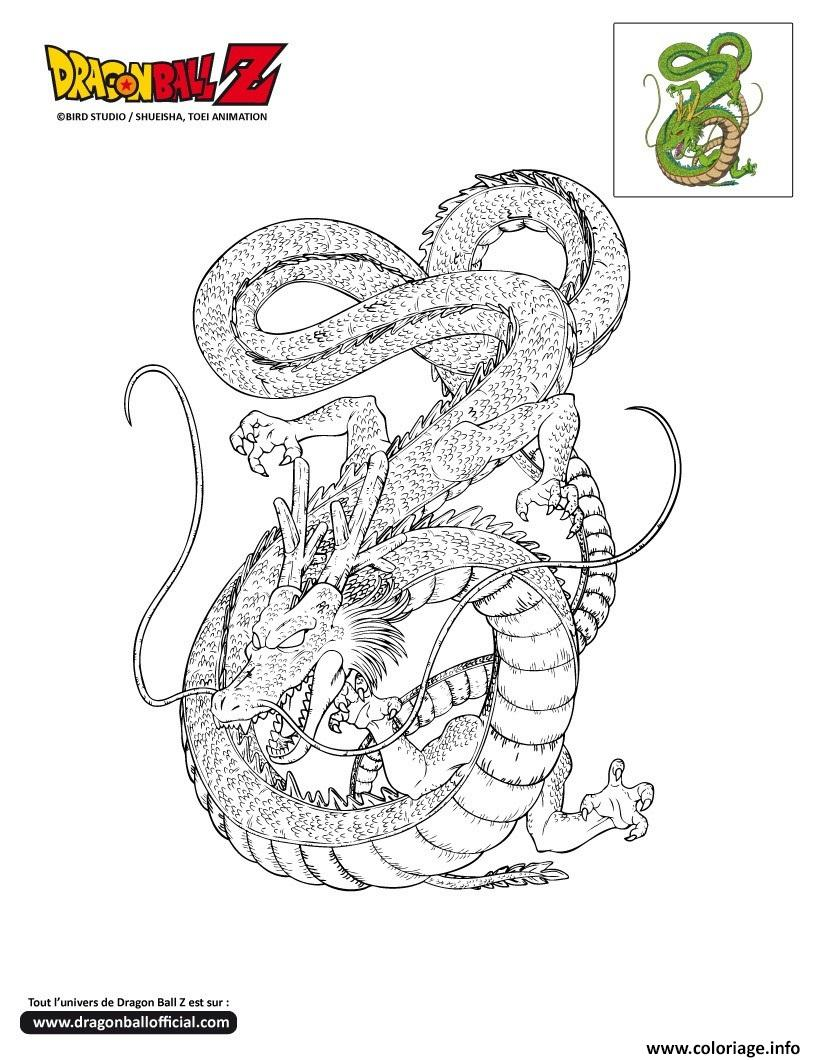 Coloriage dbz shenron dragon ball z officiel dessin - Dessin dragon ball z facile ...