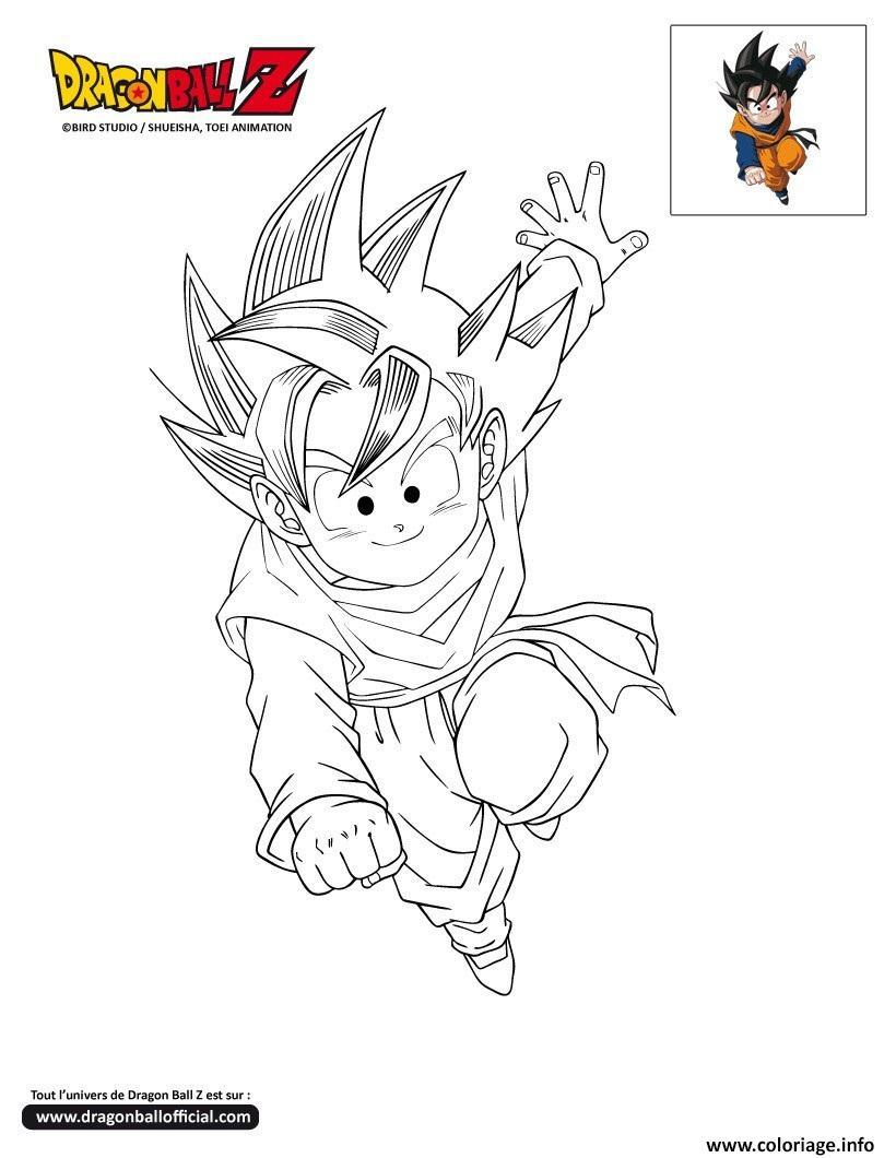 Coloriage Dbz Goten Dragon Ball Z Officiel Jecolorie Com