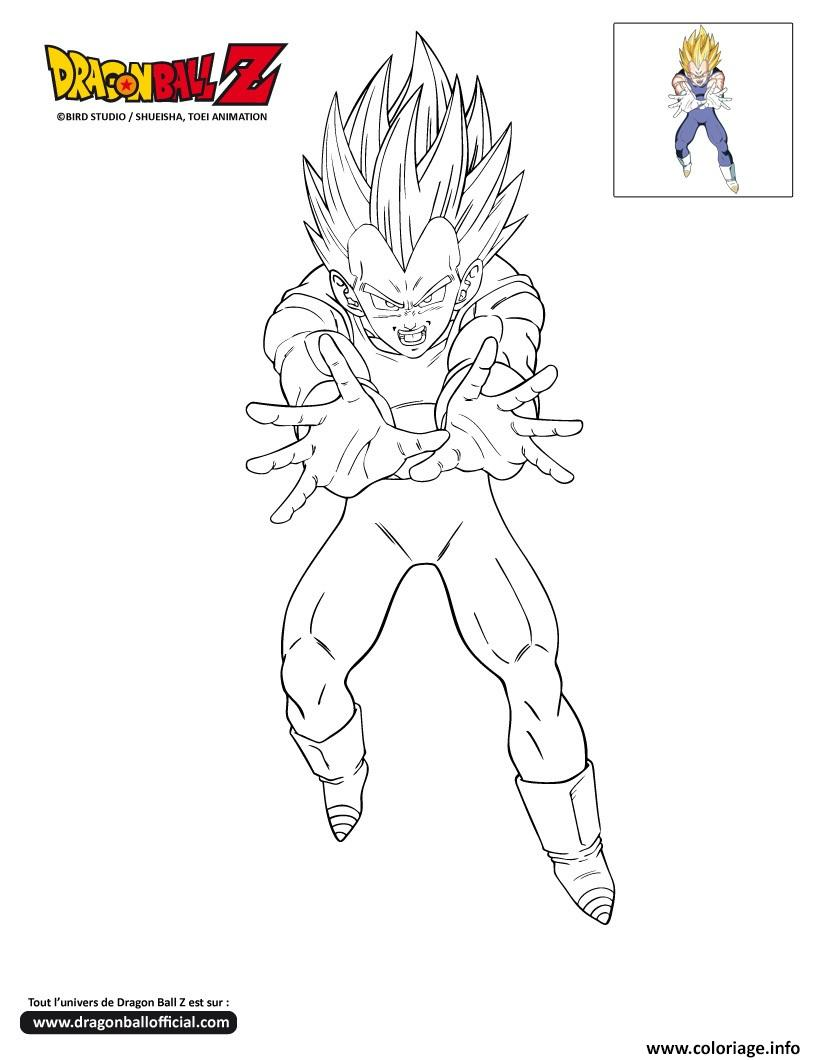 Coloriage dbz vegeto dragon ball z officiel dessin - Dessin de dragon ball super ...