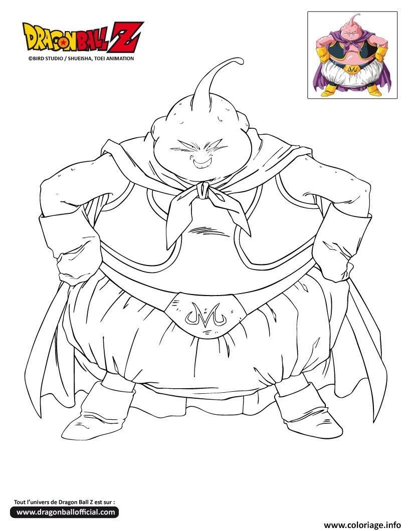 Coloriage dbz le surpuissant boo dragon ball z officiel dessin - Comment dessiner trunks ...