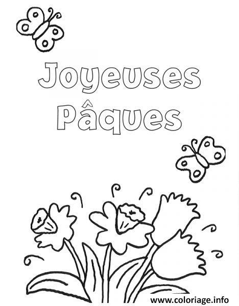 Coloriage Joyeuses Paques Maternelle.Coloriage Joyeuses Paques Avec Des Fleurs Dessin