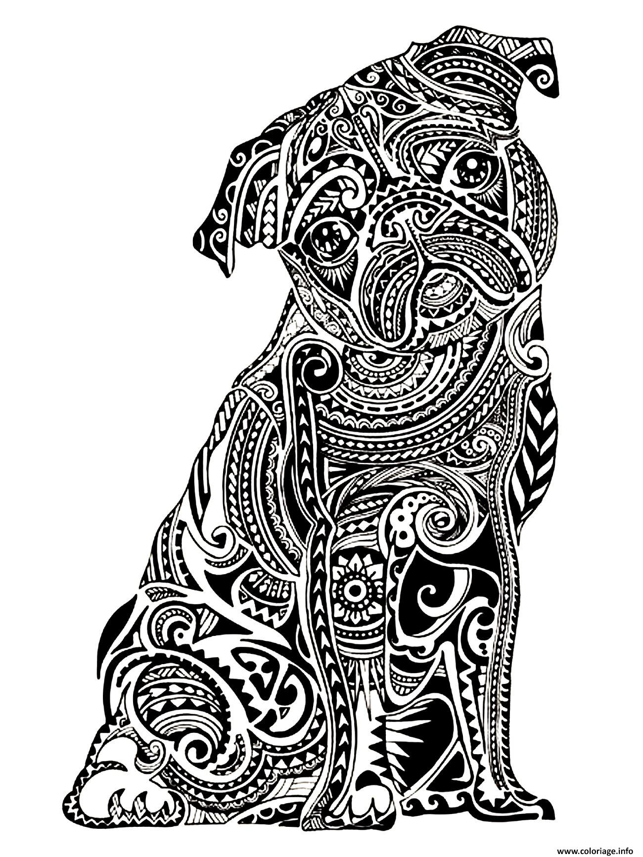 Coloriage adulte difficile petit buldog dessin - Coloriage adulte difficile ...