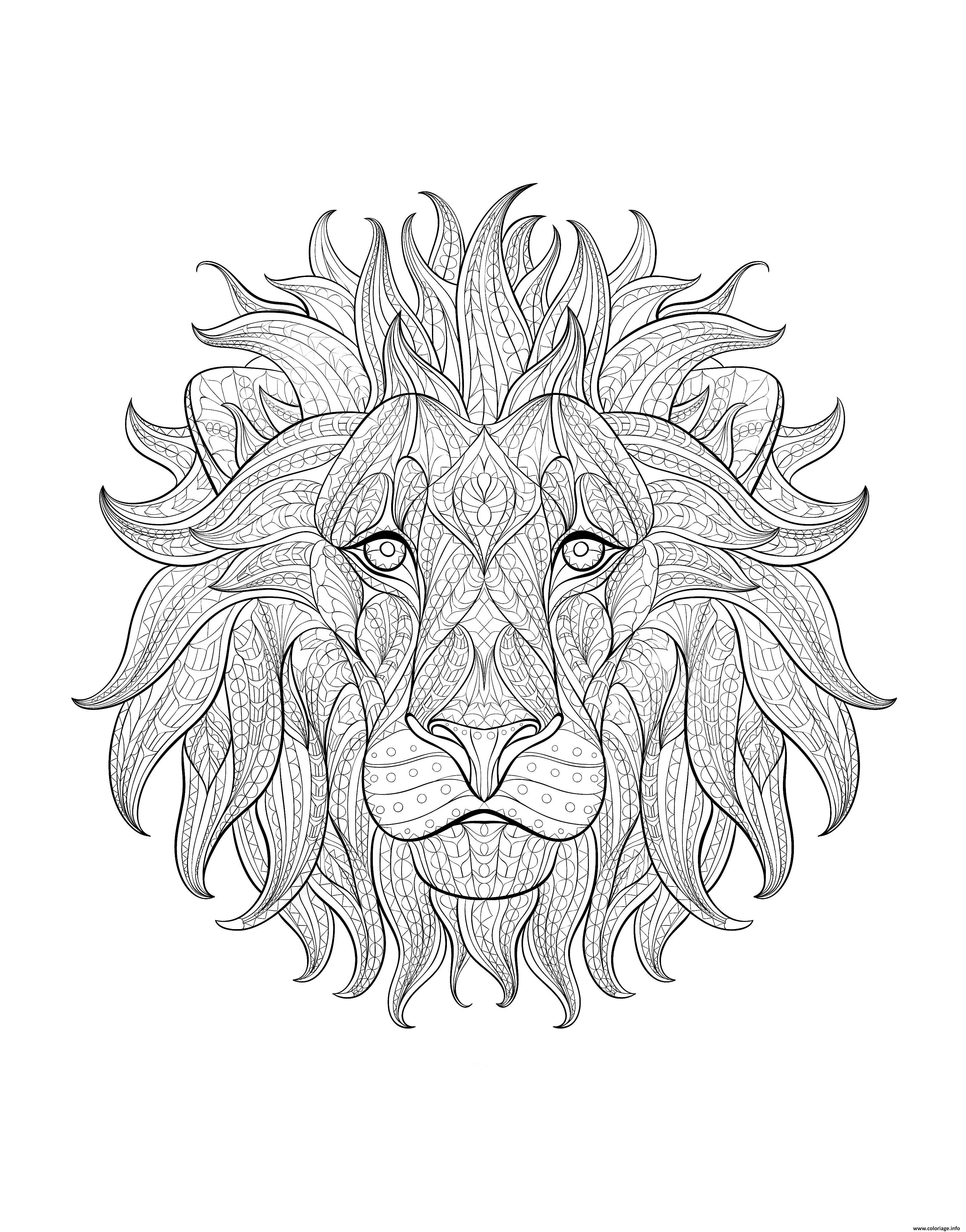 Luxe Dessin A Imprimer Gratuit De Lion Mademoiselleosaki Com