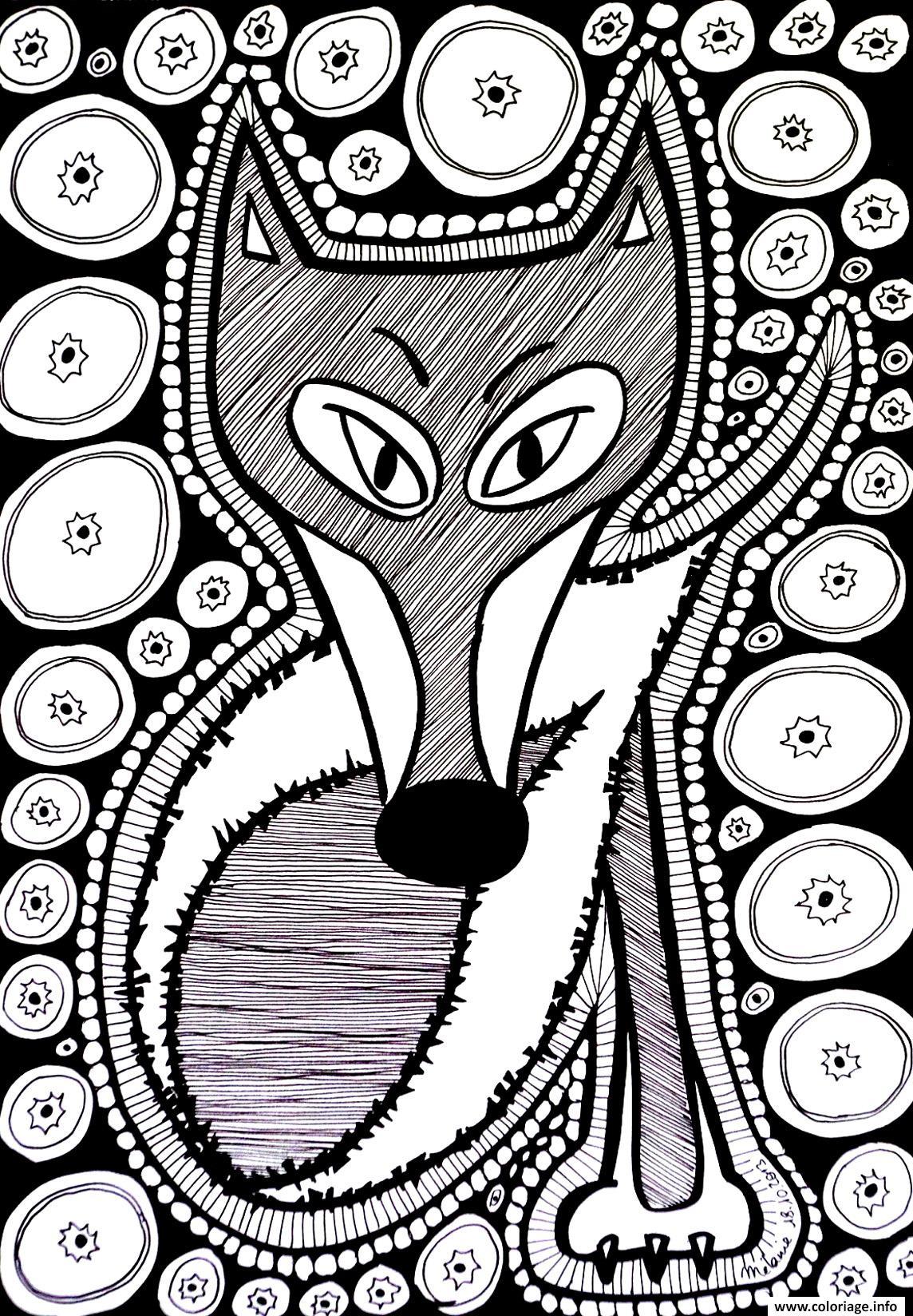 Coloriage difficile renard dessin - Coloriage renard a imprimer ...