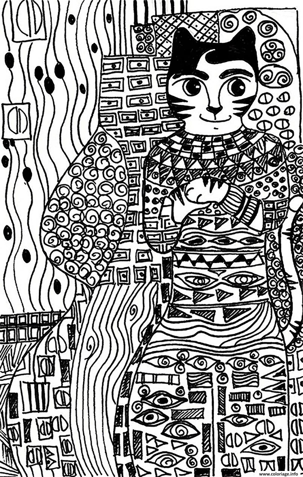 Impressionnant Dessins à Colorier Kitty