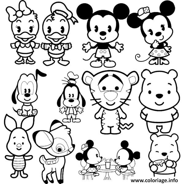 Coloriage Kawaii Disney.Coloriage Disney Cuties Tsum Tsum Dessin
