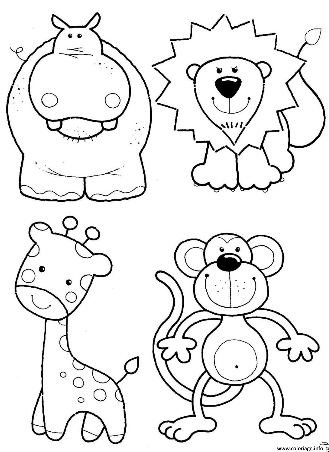 Coloriage Animals Tsum Tsum Facile Cute Dessin à Imprimer