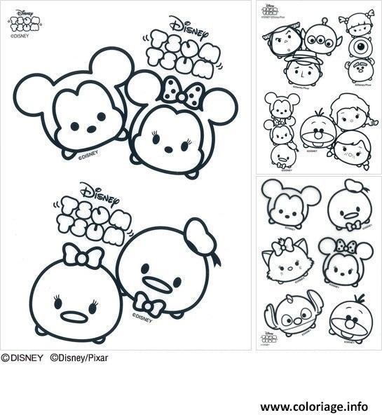 coloriage disney tsum tsum dessin imprimer - Coloriage De Disney