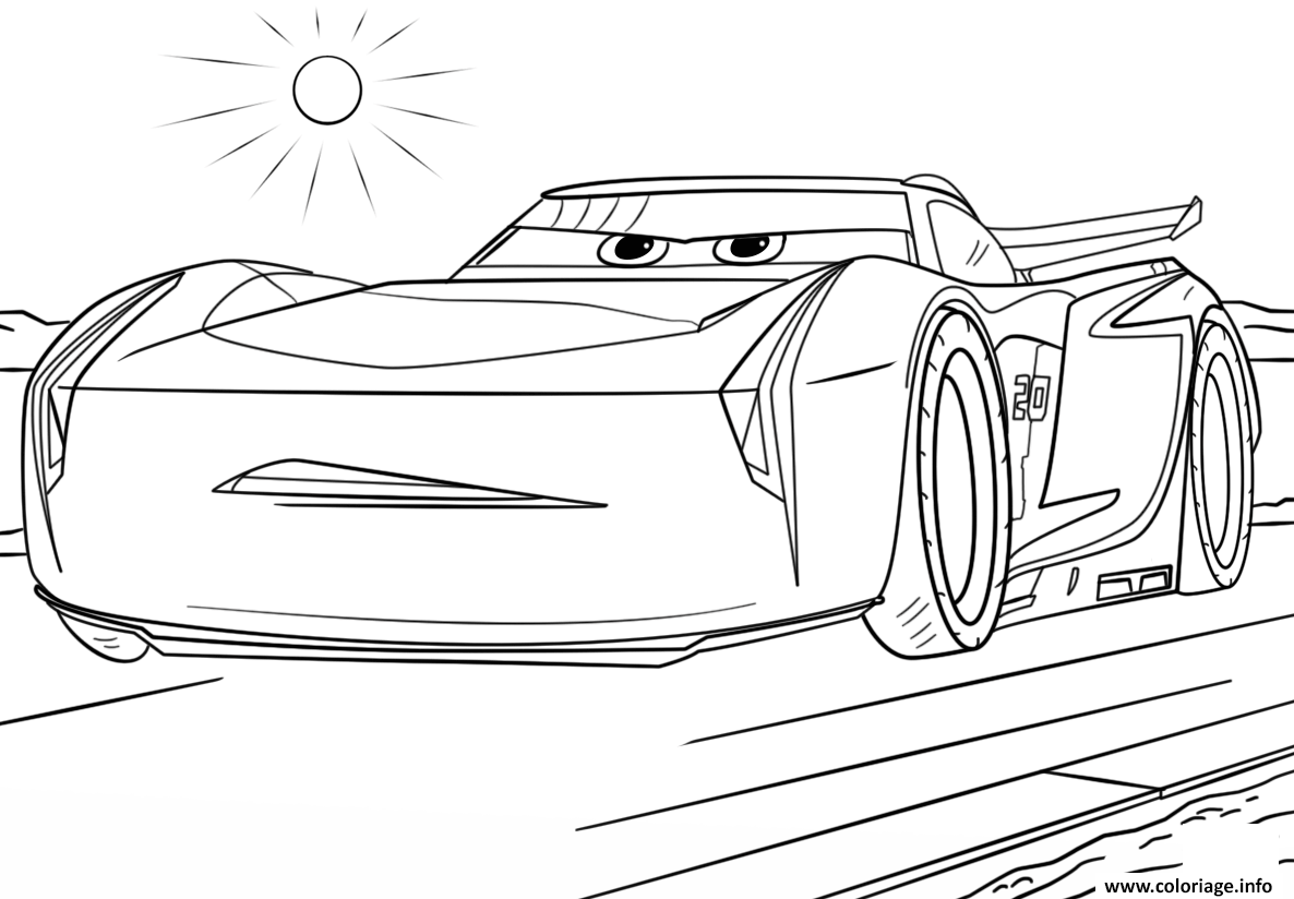 Coloriage jackson storm from cars 3 disney dessin - Cars coloriage voitures ...
