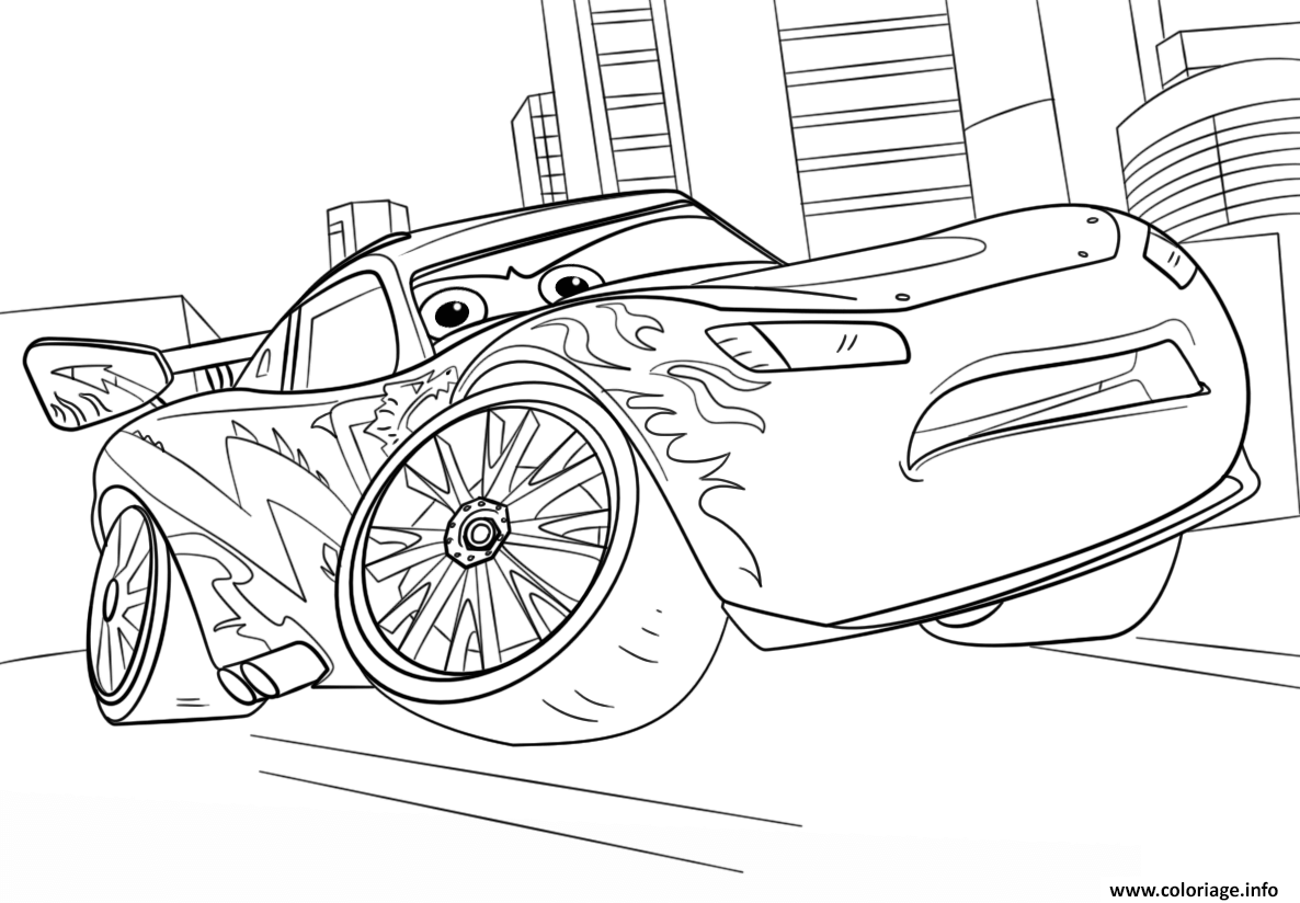 Coloriage lightning mcqueen from cars 3 disney dessin - Coloriages de cars ...