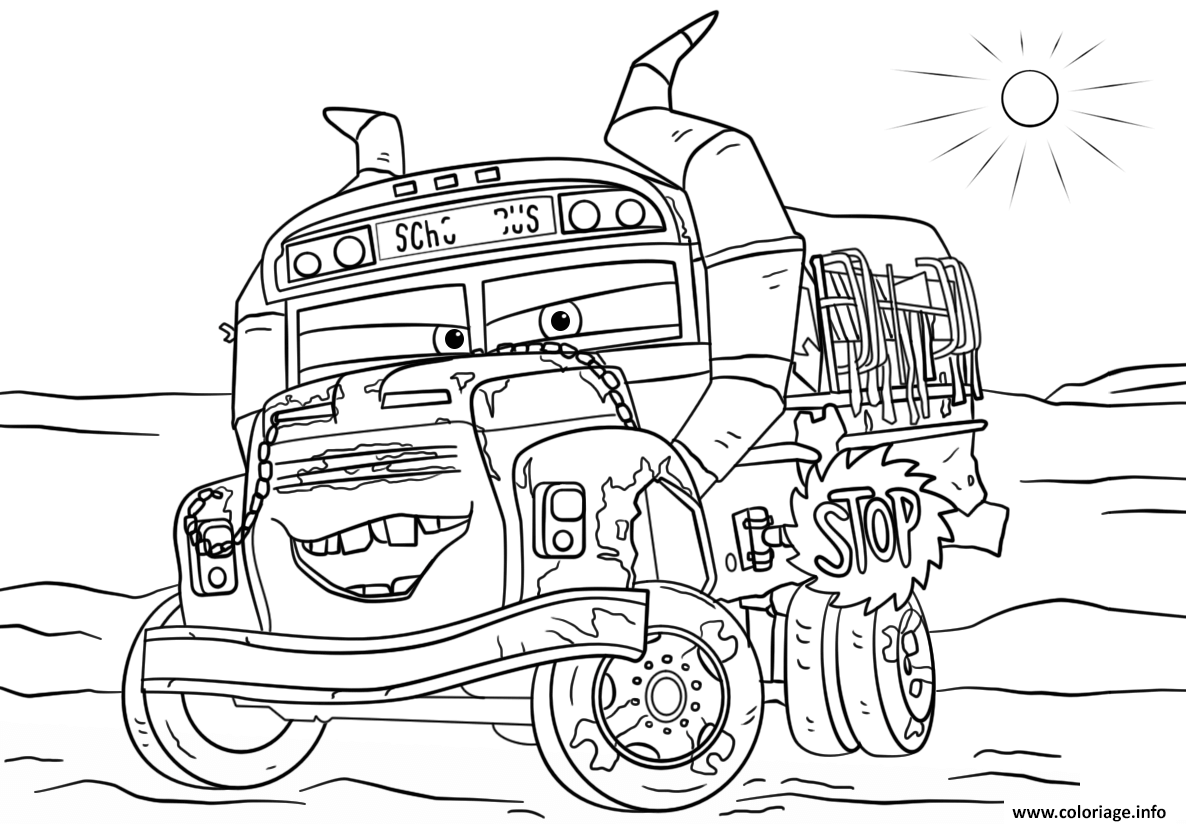 Coloriage Info Cars.Coloriage Miss Fritter From Cars 3 Disney Dessin