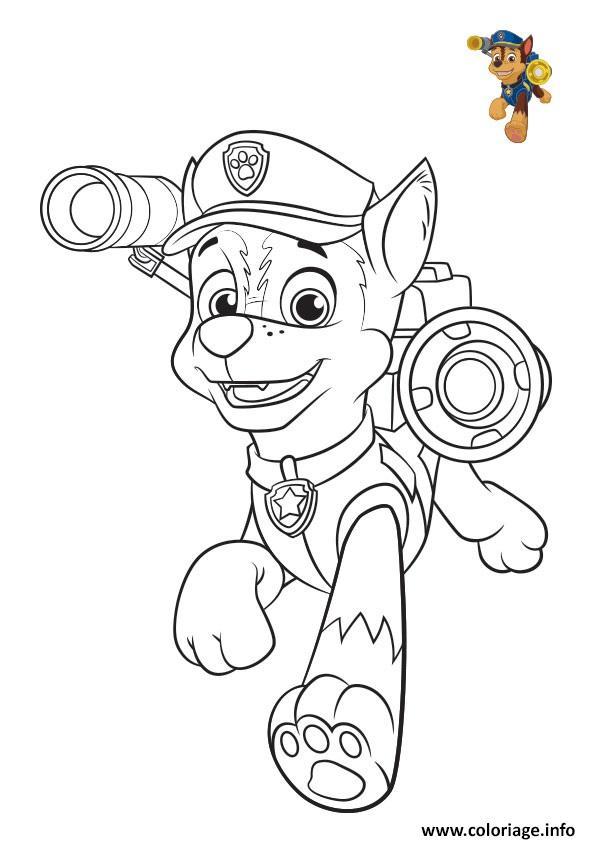 pat patrouille chase colorier coloriage dessin