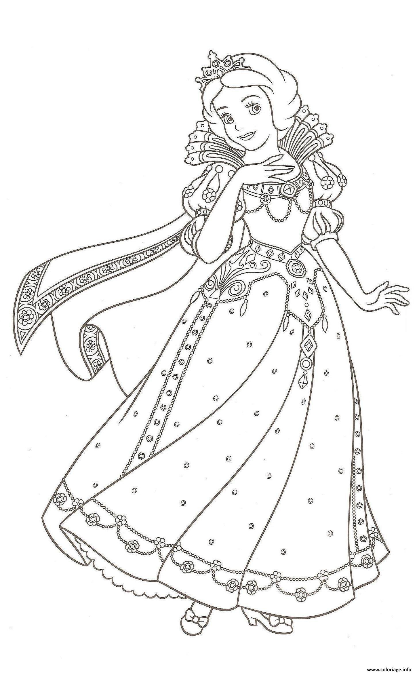 Coloriage Robe De Princesse Blanche Neige Dessin