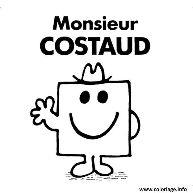 Coloriage M Constaud Monsieur Madame Dessin