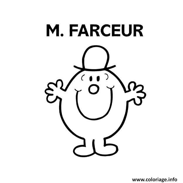 Coloriage monsieur madame farceur dessin - Coloriage de monsieur madame ...