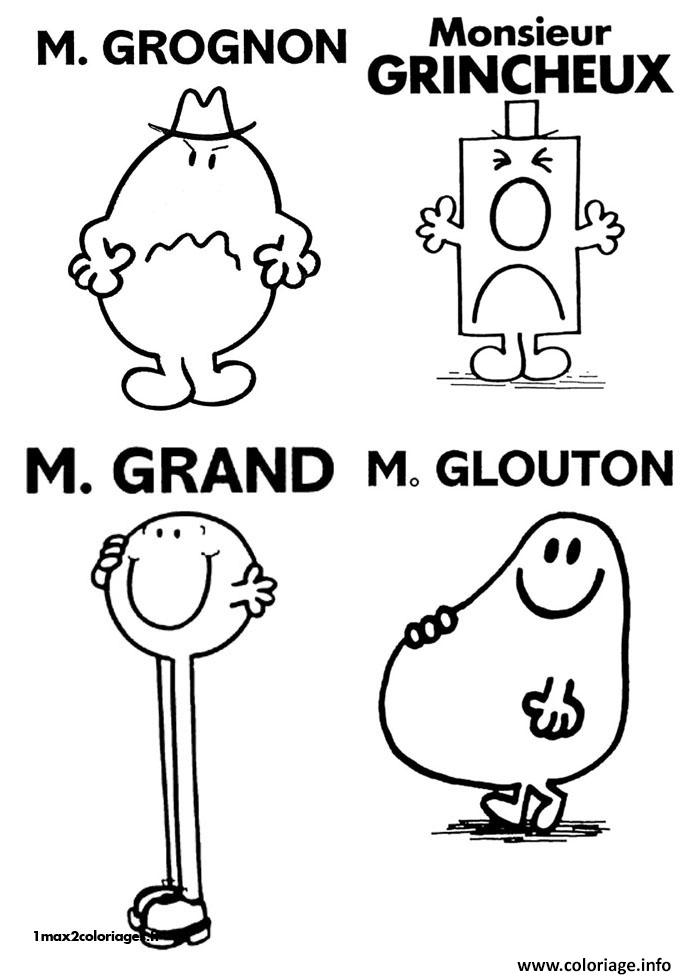 Coloriage monsieur madame grognon grincheux grand glouton - Coloriage mr mme ...