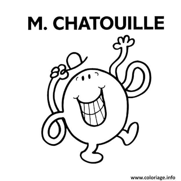 Coloriage Monsieur Madame M Chatouille Jecolorie Com