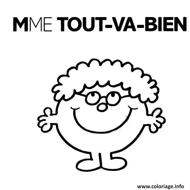 Coloriage Monsieur Madame Mme Tout Va Bien Jecolorie Com