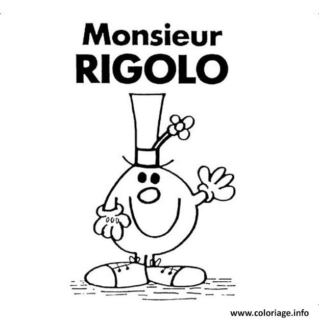 Dessin Monsieur Madame Rigolo Coloriage Gratuit à Imprimer