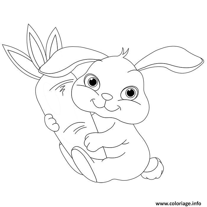 Coloriage animaux mignon de bebe lapin dessin - Des images pour coloriage ...