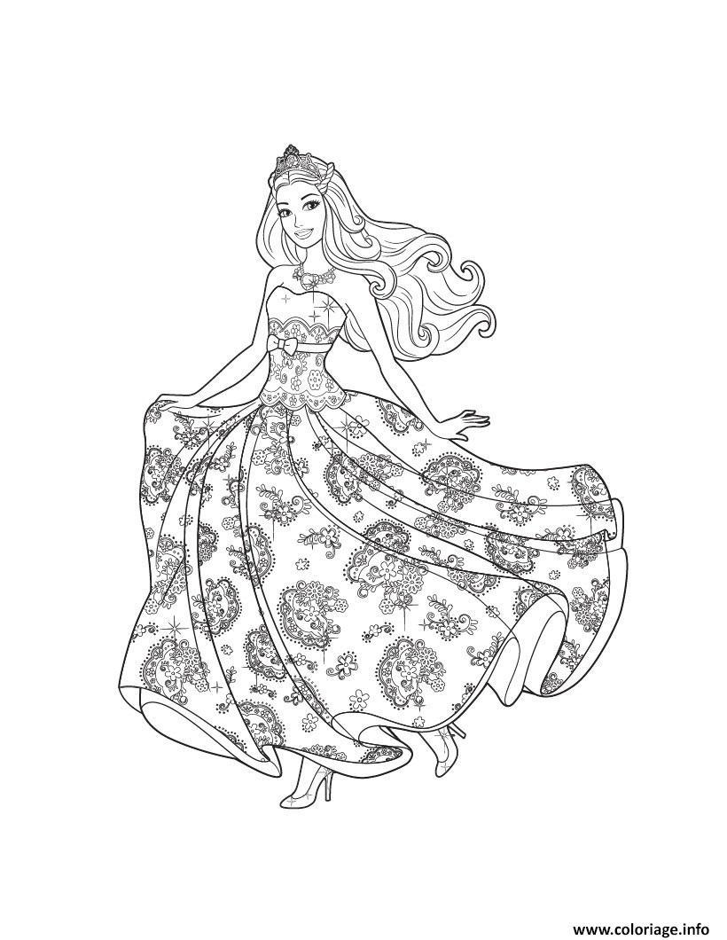 Coloriage princesse barbie amie avec anna de frozen dessin - Coloriage princesse barbie ...