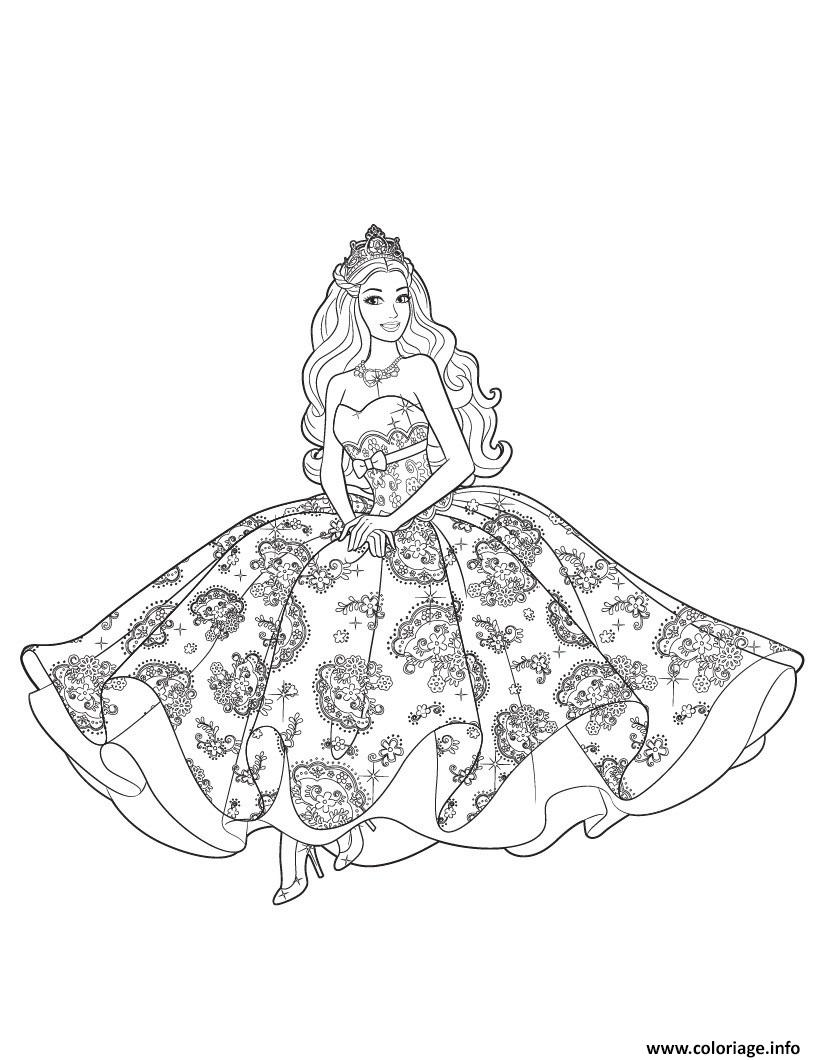 Coloriage princesse barbie reine des neiges dessin - Barbie princesse coloriage ...