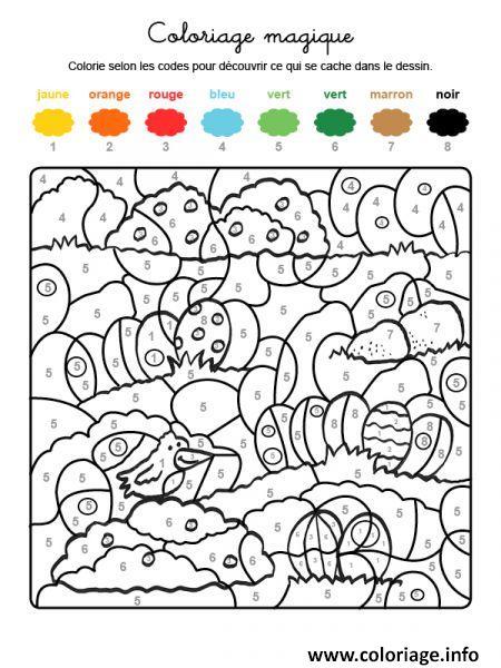 Coloriage Magique De Paques Facile Dessin