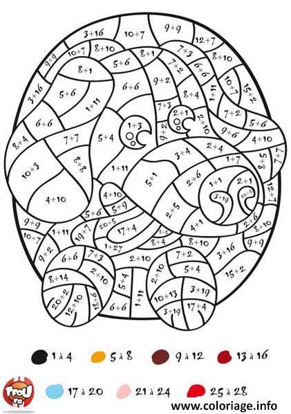 magique addition math tfou coloriage dessin