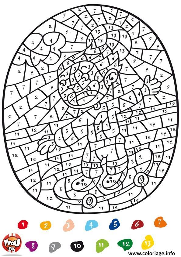 coloriage magique tfou amusant dessin imprimer