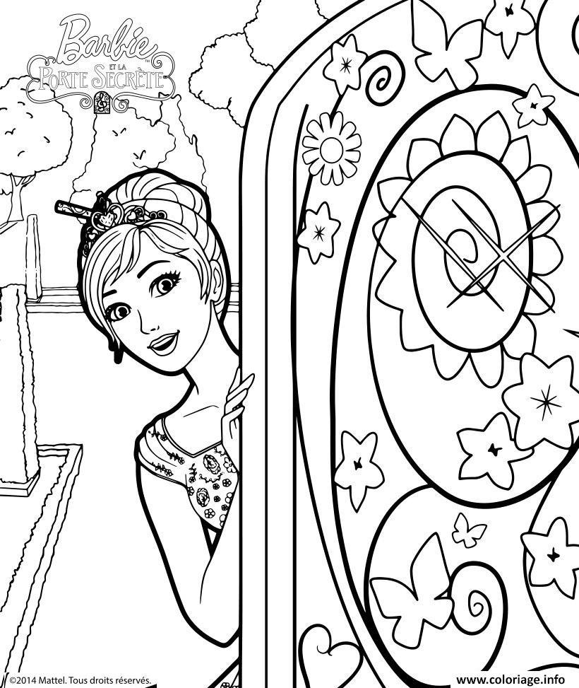 Coloriage barbie alexa ouvre la porte secrete for Porte qui s ouvre dessin
