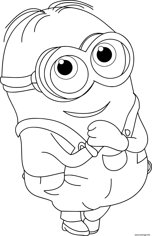 coloriage minion bob cute dessin imprimer - Dessin Minion