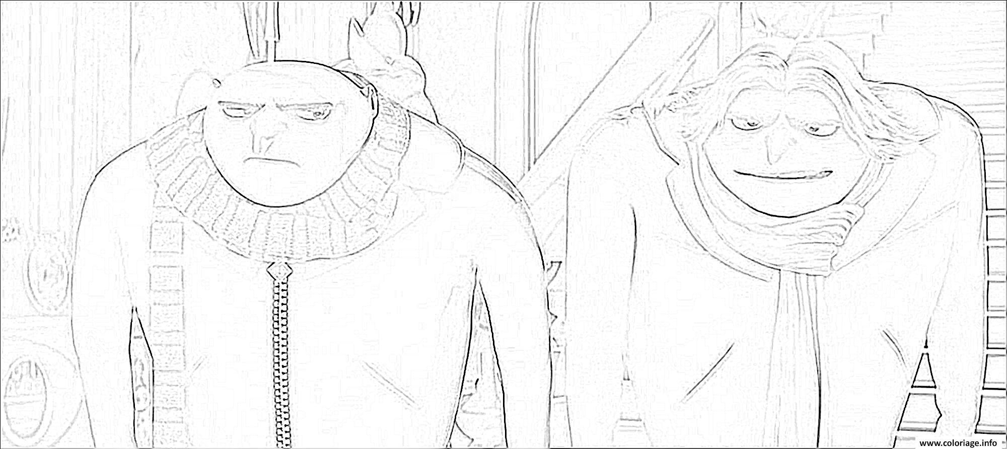 Coloriage moi moche et mechant 3 gru frere jumeau dessin - Dessin de moi moche et mechant ...
