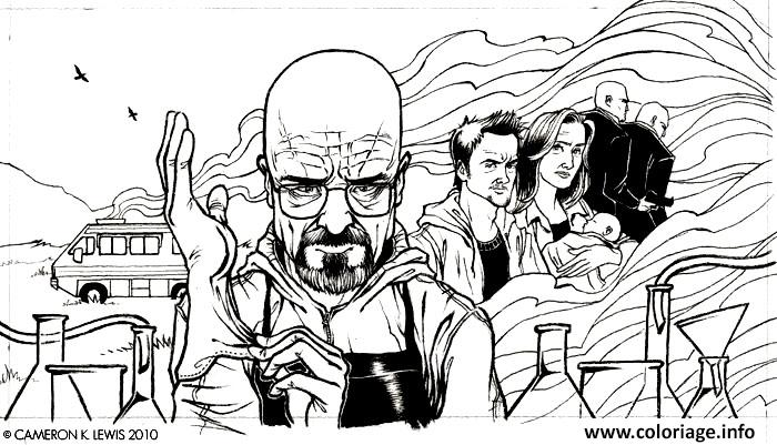 Coloriage Adult Breaking Bad Dessin Dessin à Imprimer