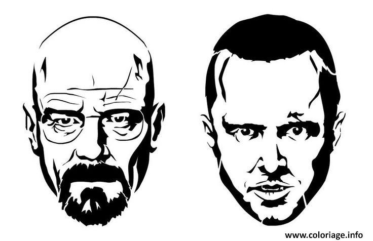 Coloriage Jesse And White From The Breaking Bad Dessin à Imprimer