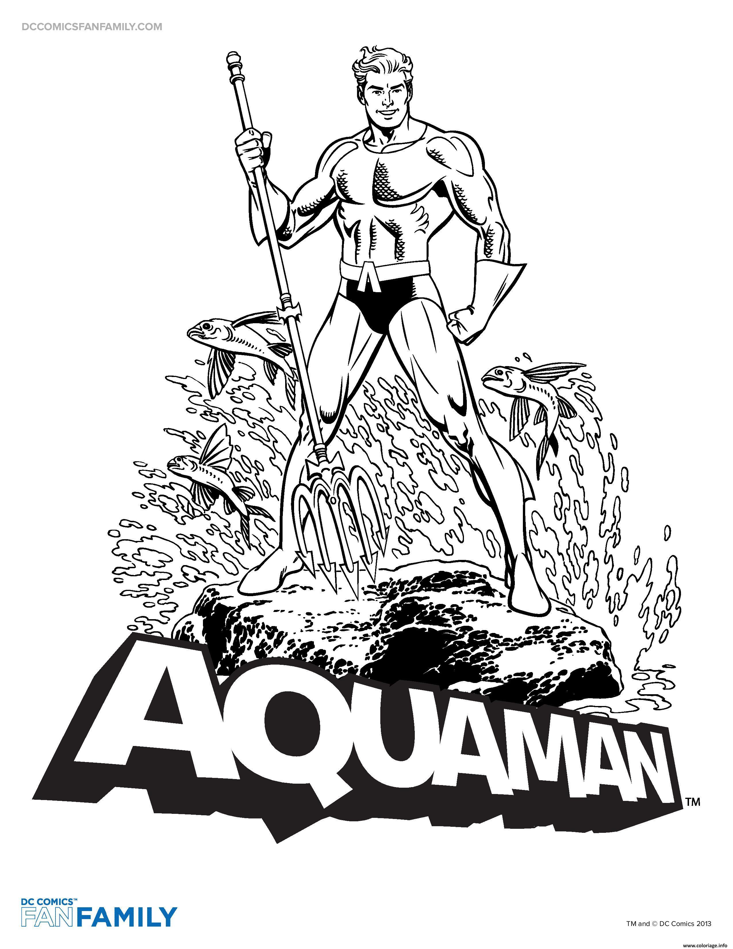 Coloriage Aquaman Super Hero Dessin Aquaman à imprimer