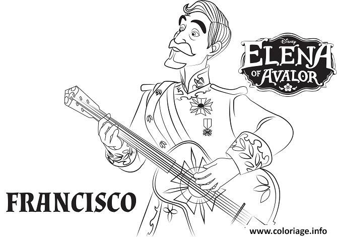 Coloriage Elena De Avalor Francisco Jecolorie Com